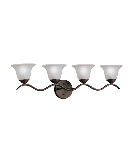 Kichler Lighting Dover 4 Light Bath Vanity in Tannery Bronze 6324TZ