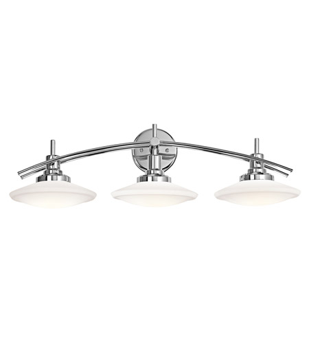 Kichler Structures 3 Light Bath Bracket in Chrome 6463CH photo