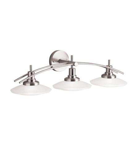 Bathroom Light Fixtures In Brushed Nickel kichler 6463ni structures 3 light 30 inch brushed nickel bath