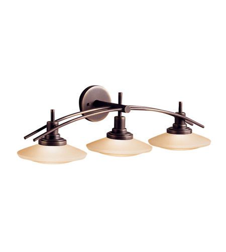 Kichler Lighting Structures 3 Light Bath Vanity in Olde Bronze 6463OZ photo