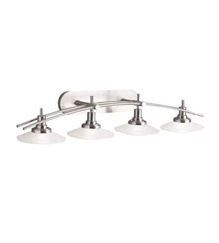 Kichler Lighting Structures 4 Light Bath Vanity in Brushed Nickel 6464NI