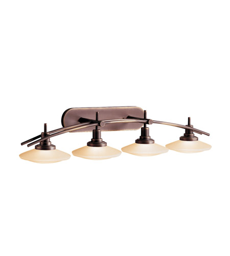 Kichler Lighting Structures 4 Light Bath Vanity in Olde Bronze 6464OZ photo