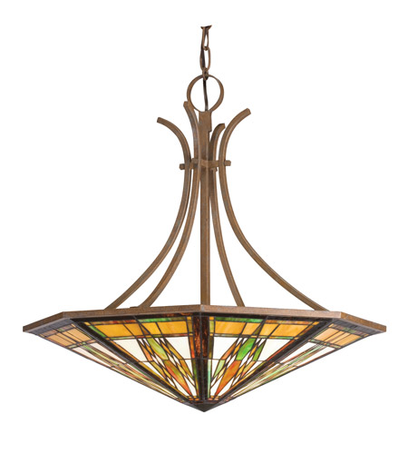 Kichler Lighting Steveston 6 Light Inverted Pendant in Dore Bronze 65054 photo