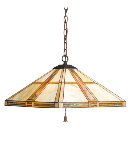 Kichler Lighting Art Glass 3 Light Pendant in Dore Bronze 65069