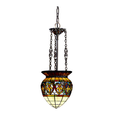 Kichler Lighting Provencia 1 Light Inverted Pendant in Bronze 65134 photo