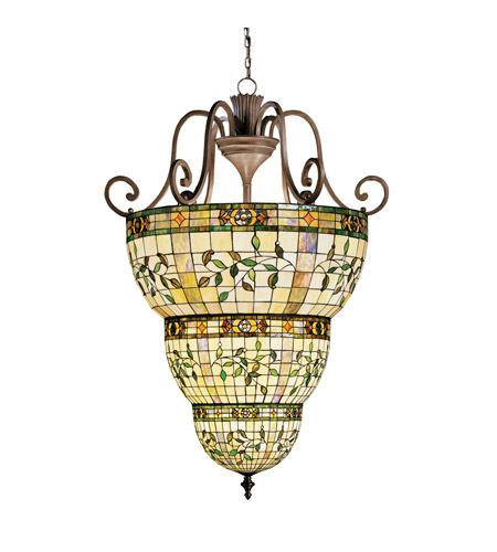 Kichler Lighting Elegante 12 Light Foyer Chain Hung in Bronze 65144 photo