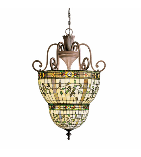 Kichler Lighting Elegante 6 Light Foyer Chain Hung in Bronze 65157 photo