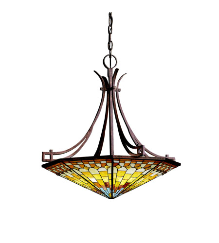 Kichler Lighting Pompeian Mosaics 6 Light Inverted Pendant in Bronze 65163