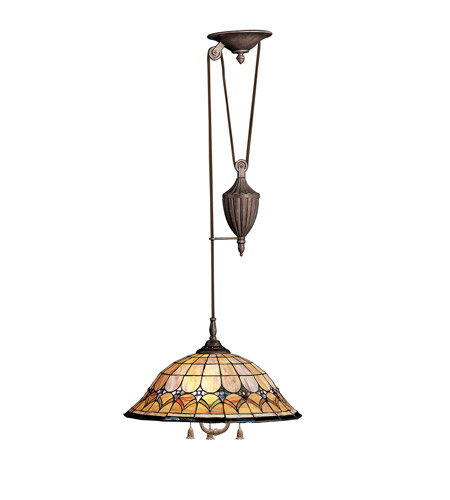 Kichler Lighting Artaxerxes 3 Light Pendant in Bronze 65168 photo