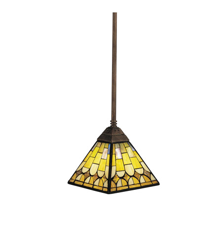Kichler Lighting Pompeian Mosaics 1 Light Mini Pendant in Bronze 65172 photo