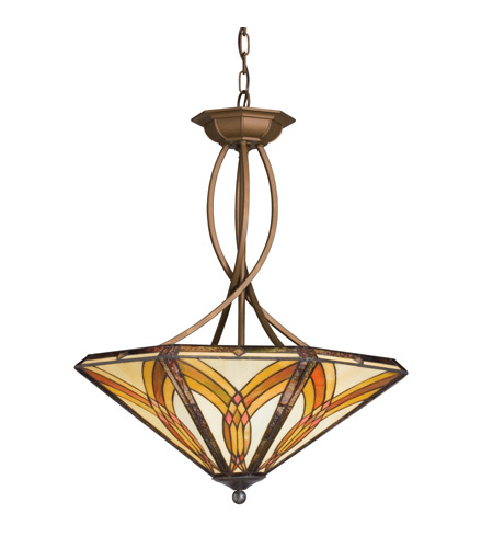 Kichler Lighting Sonora 4 Light Inverted Pendant in Bronze 65174 photo