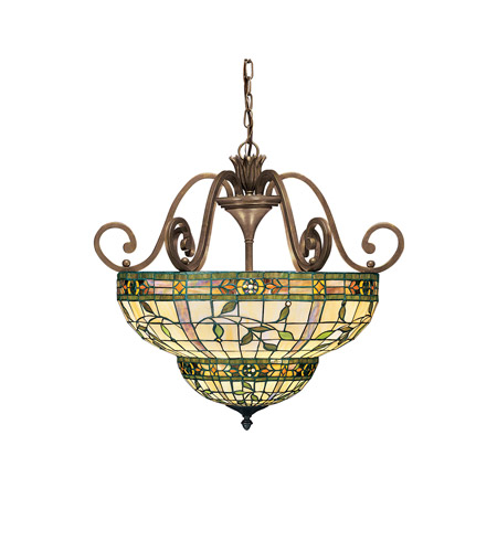 Kichler Lighting Elegante 3 Light Inverted Pendant in Bronze 65186 photo