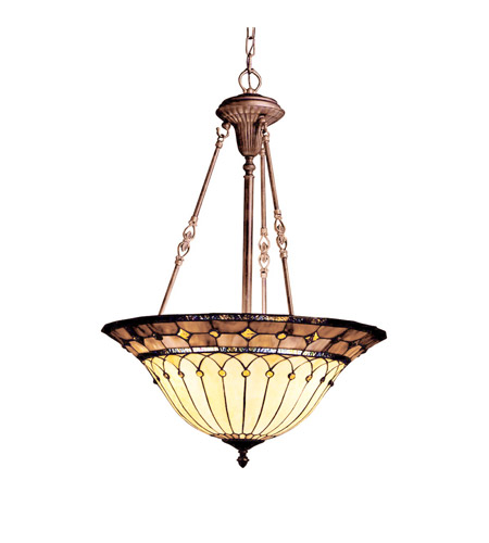 Kichler Lighting Dunsmuir 3 Light Inverted Pendant in Bronze 65187 photo