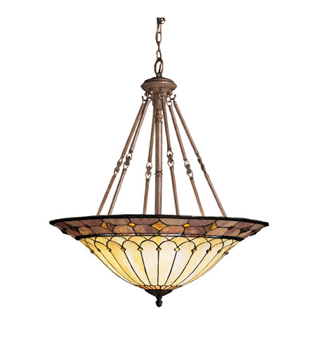 Kichler Lighting Dunsmuir 6 Light Inverted Pendant in Bronze 65188 photo