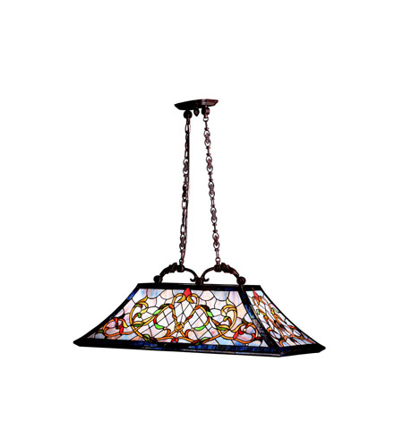 Kichler Lighting Walton Square 3 Light Island Light in Tannery Bronze w/ Gold Accent 65207
