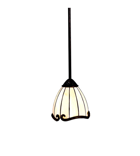Kichler lighting clarice 1 light mini pendant in tannery bronze w gold accent 65216