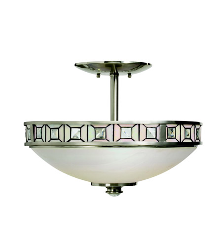 Kichler Lighting Montrose 3 Light Semi-Flush in Brushed Nickel 65218 photo