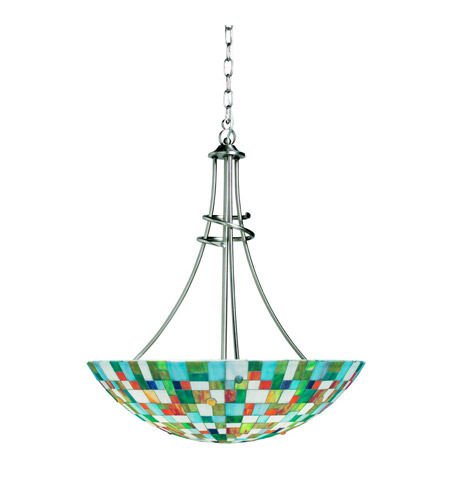 Kichler Lighting Confetti 3 Light Inverted Pendant in Brushed Nickel 65238 photo