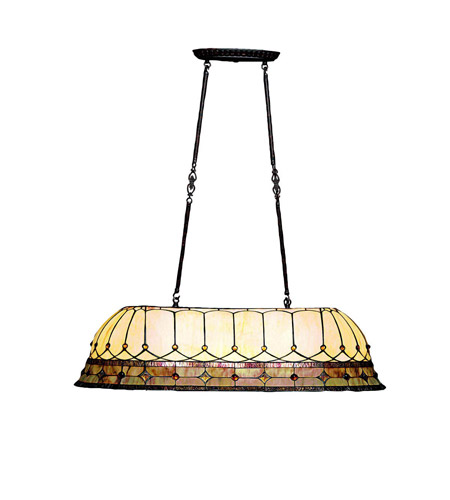 Kichler Lighting Dunsmuir 3 Light Island Light in Tannery Bronze w/ Gold Accent 65244 photo