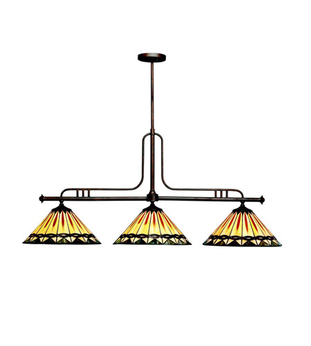 Kichler Lighting Yakima 3 Light Island Light in Tannery Bronze 65268 photo