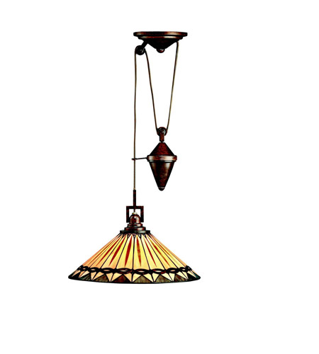 Kichler Lighting Yakima 1 Light Pendant in Tannery Bronze 65273
