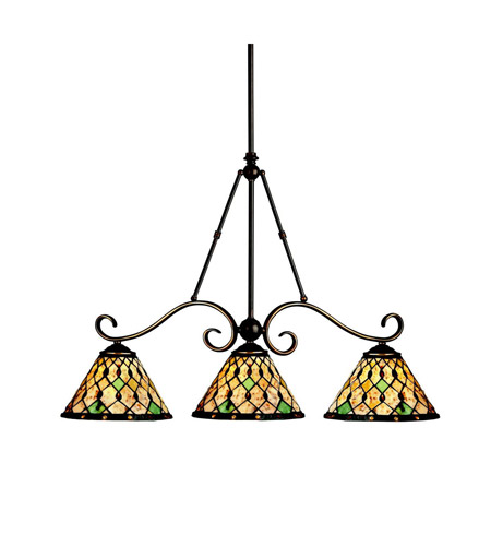 Kichler Lighting Woodbury 3 Light Island Light in Oiled Bronze 65274 photo