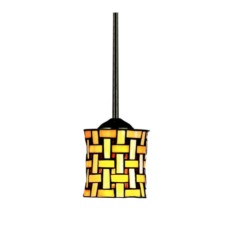 Kichler Lighting Art Glass 1 Light Mini Pendant in Oiled Bronze 65277