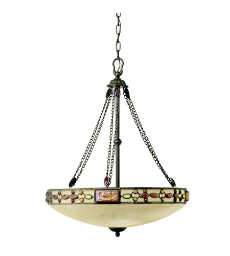 Kichler Lighting Joya 3 Light Inverted Pendant in Olde Bronze 65290 photo