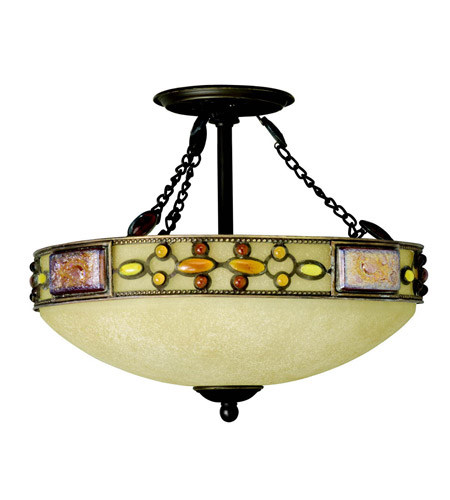 Kichler Lighting Joya 3 Light Semi-Flush in Olde Bronze 65291 photo