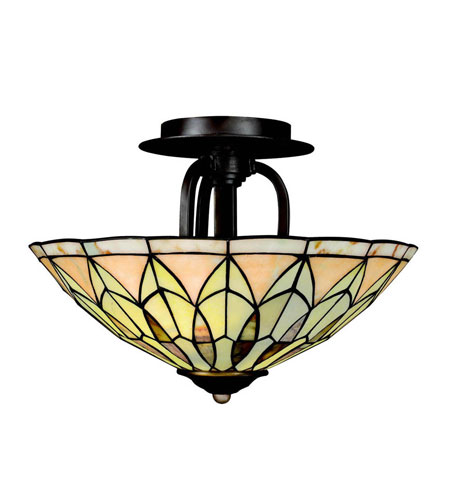 Kichler Lighting Piedra 2 Light Semi-Flush in Olde Bronze 65293