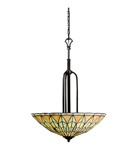 Kichler Lighting Piedra 4 Light Inverted Pendant in Olde Bronze 65294