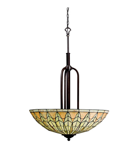 Kichler Lighting Piedra 5 Light Inverted Pendant in Olde Bronze 65295 photo