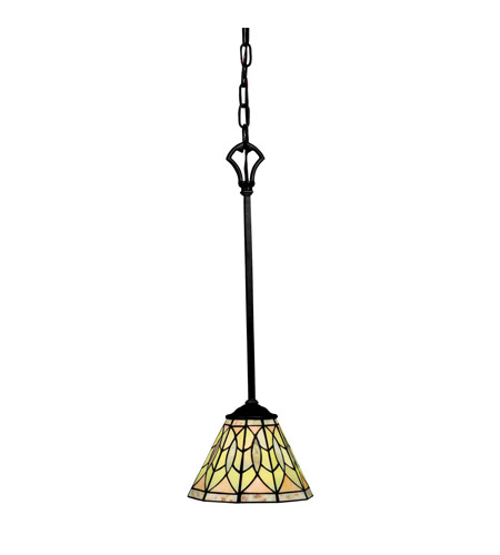 Kichler Lighting Piedra 1 Light Mini Pendant in Olde Bronze 65296 photo