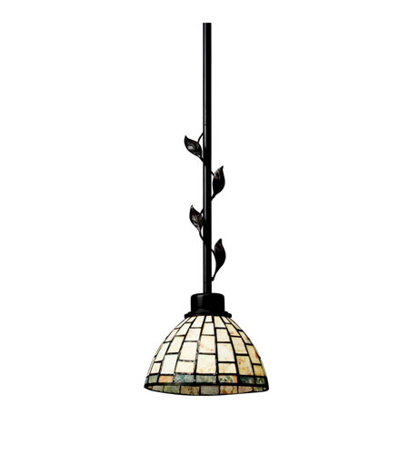 Kichler Lighting Botanical Reflections 1 Light Mini Pendant in Olde Bronze 65305 photo