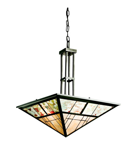 Kichler Lighting Prairie Ridge 3 Light Inverted Pendant in Olde Bronze 65316 photo