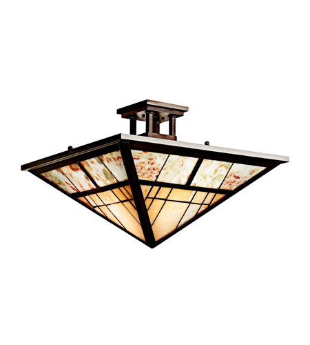 Kichler Lighting Prairie Ridge 2 Light Semi-Flush in Olde Bronze 65317 photo