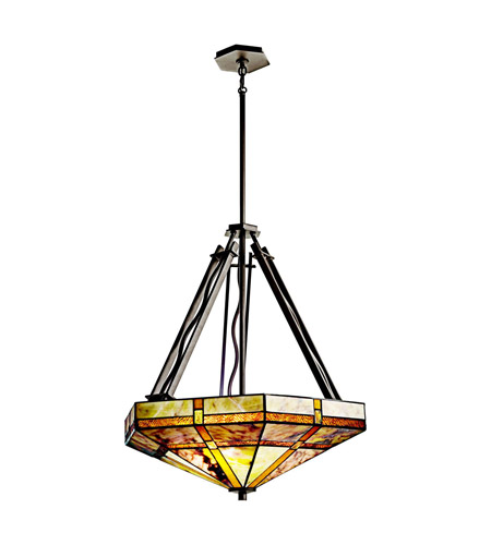 Kichler Lighting Tacoma 3 Light Inverted Pendant in Olde Bronze 65319
