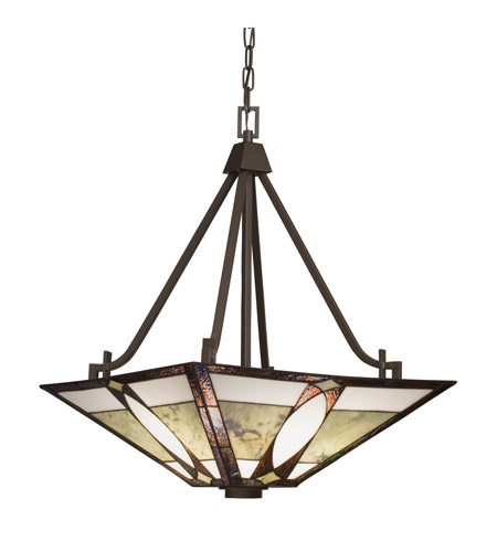 Kichler Lighting Denman 3 Light Inverted Pendant in Olde Bronze 65322 photo