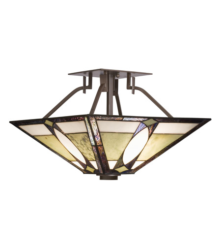 Kichler Lighting Denman 2 Light Semi-Flush in Olde Bronze 65323 photo