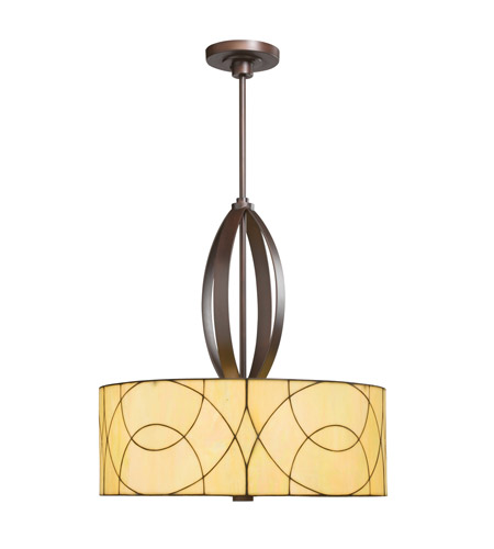 Kichler 65325 Spyro 3 Light 24 inch Dark Bronze Pendant Ceiling Light photo