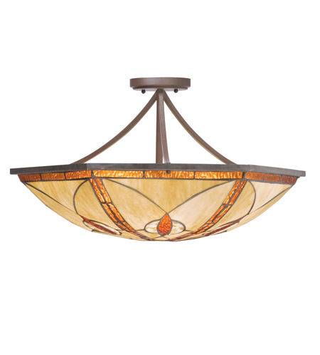 Kichler Lighting Cats Eye 4 Light Inverted Pendant in Olde Bronze 65328