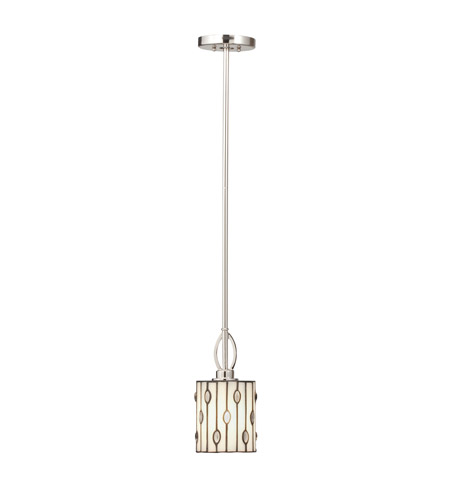 Kichler Lighting Cloudburst 1 Light Mini Pendant in Polished Nickel 65330