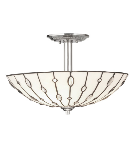 Kichler Lighting Cloudburst 3 Light Semi-Flush in Polished Nickel 65331 photo