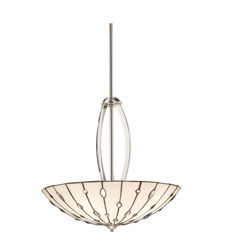 Kichler Lighting Cloudburst 4 Light Inverted Pendant in Polished Nickel 65332 photo