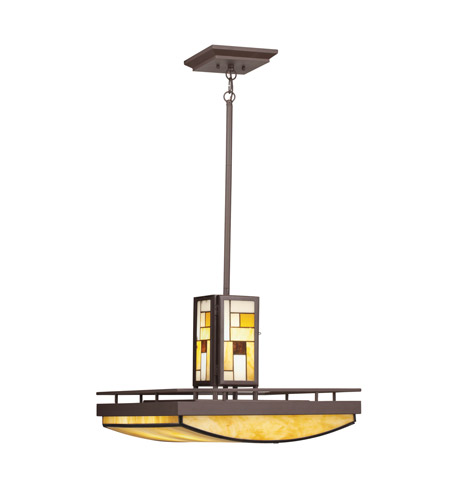 Kichler Lighting Riverview 5 Light Inverted Pendant in Olde Bronze 65337 photo