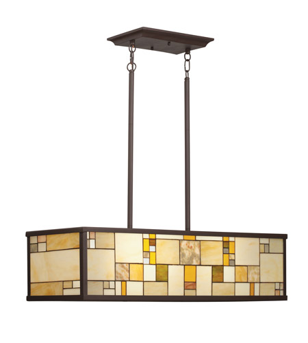 Kichler Lighting Riverview 4 Light Island Light in Olde Bronze 65338 photo