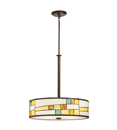 Kichler Lighting Mihaela 4 Light Inverted Pendant in Shadow Bronze 65344 photo