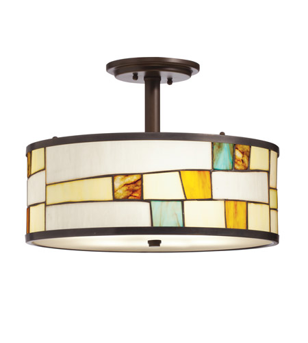 Kichler Lighting Mihaela 3 Light Semi-Flush in Shadow Bronze 65345 photo