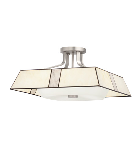 Kichler Lighting Bryn 4 Light Semi-Flush in Brushed Nickel 65348 photo