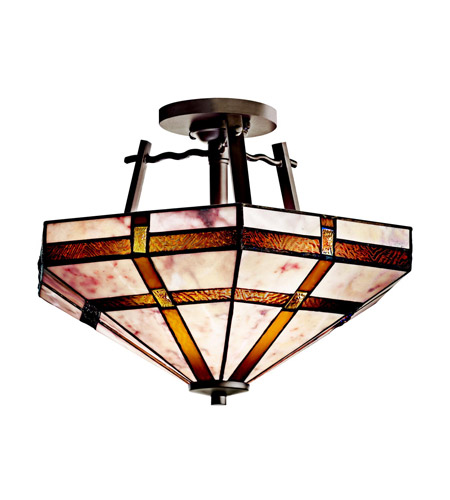 Kichler Lighting Tacoma 2 Light Semi-Flush in Olde Bronze 65350 photo